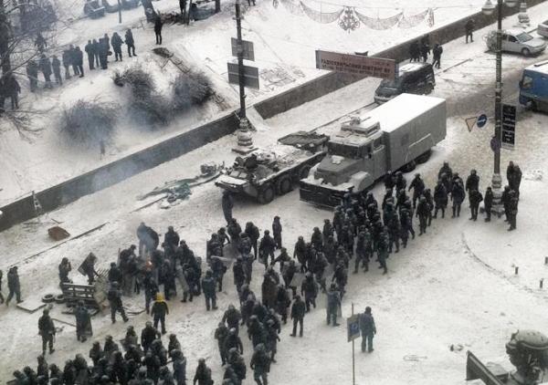 Милиция на ул. Грушевского