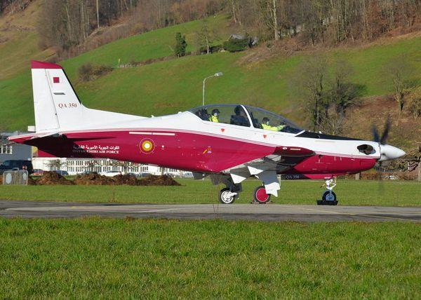 Pilatus PC-21  для ВВС Катара (c) Stephan Widmer / www.spotting-pilatus-aircraft.ch