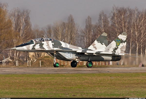 МиГ-29УБ ВС Украины (c) spotters.net.ua / Backfire