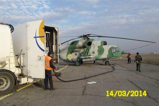 Авиакомпания ДнепрАвиа произвела заправку топливом боевых вертолетов