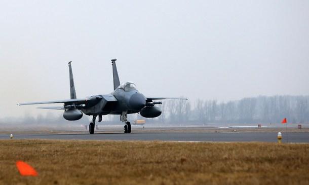 F-15C Eagle из состава 493-й истребительной эскадрильи (с) Petras Malukas / AFP