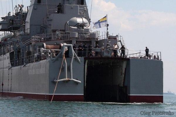 десантный корабль Константин Ольшанский (c) vk.com/mil_in_ua
