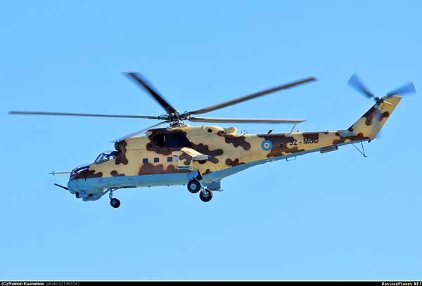 Ми-24В  ВВС Джибути (c) Родион Кузнецов / russianplanes.net