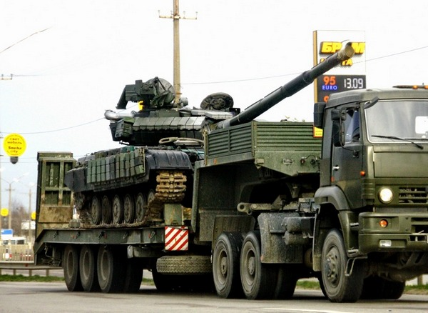 вывод с Крыма боевых танков Т-64 ВС Украины