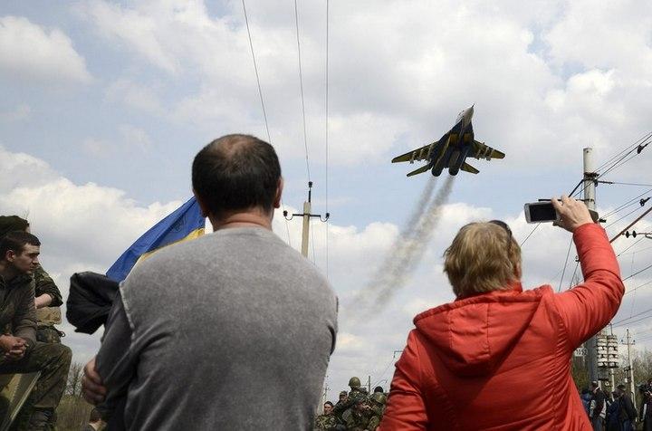 МиГ-29 над Краматорском 16.04.2014