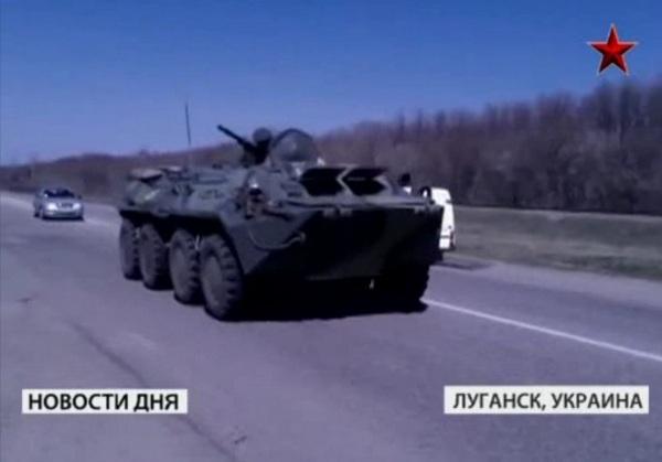 БТР-80 в Луганске