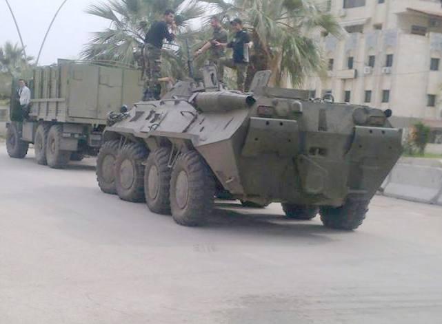 БТР-80 в Сирии