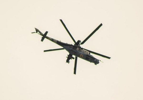 Ми-24 ВС Украины над Славянском