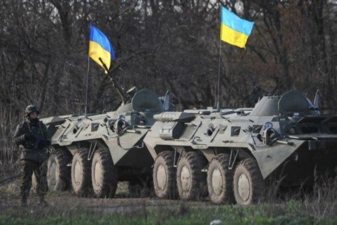 Бронетехника ВС Украины вокруг Славянска
