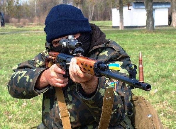 снайперы совершенствуют боевое мастерство