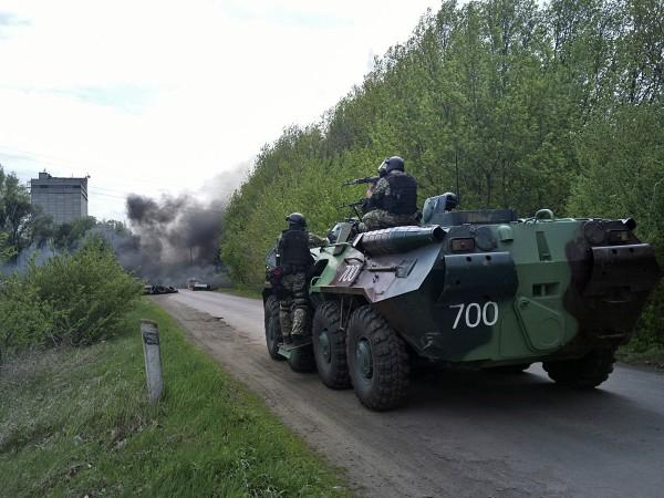 Штурм Славянска 24 апреля