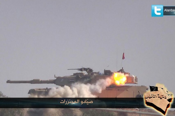 Подбитый танк M1A1 ВС Ирака