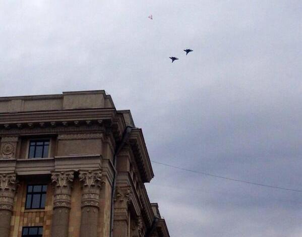 истребители в небе над Харьковом