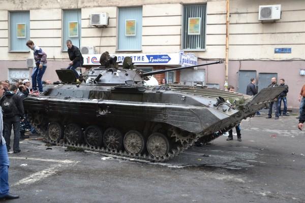 захваченный БМП-2 в Мариуполе