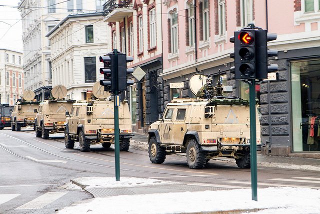 Военный эскорт в Осло
