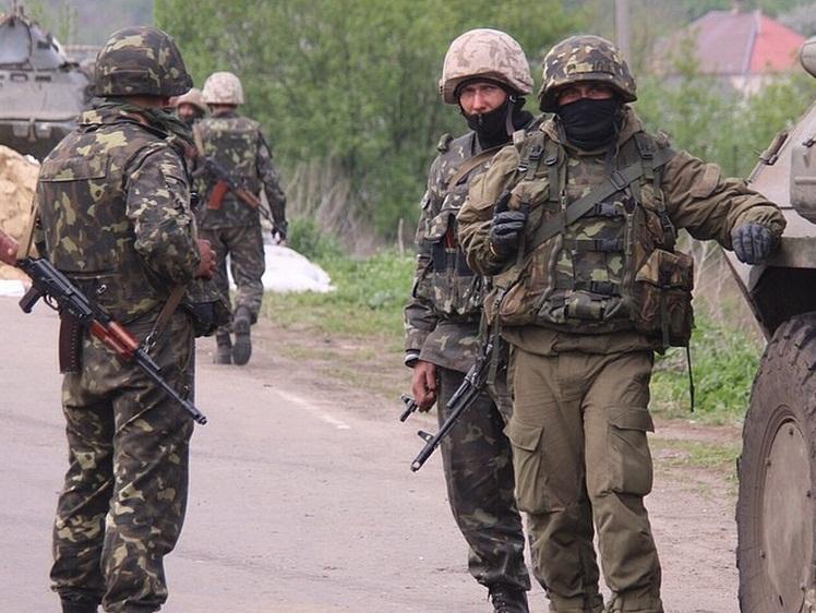 Военослужащие ВС Украины возле Славянска (c) Александр Коц