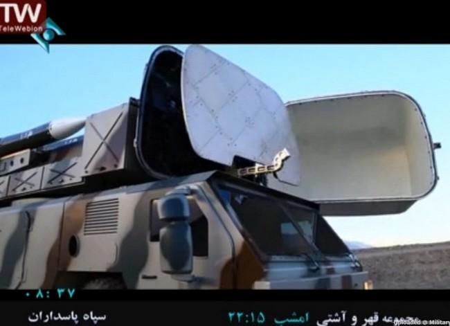 РЛС боевой машины ЗРК Tabas