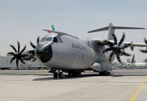 A400M  приземлился на Международном аэропорту Мехико