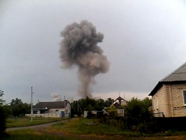взрыв на складе с оружием
