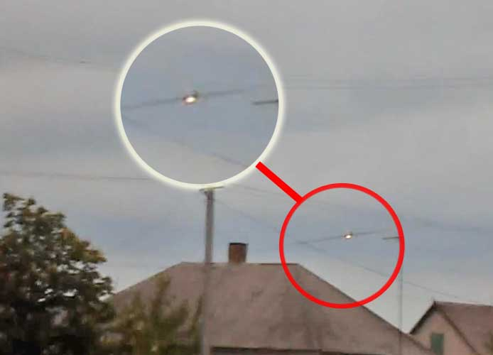 Момент обстрела с самолета Су-25