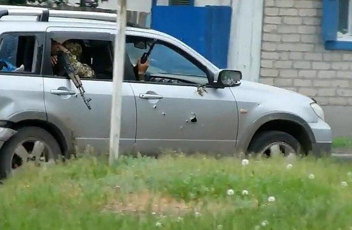 отступление отрядов самообороны Славянска