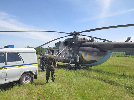 потерянный позже Ми-8 ВС Украины