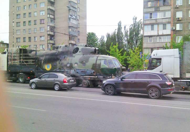 Поврежденный Ми-8 ВС Украины (c) Глеб Демидов