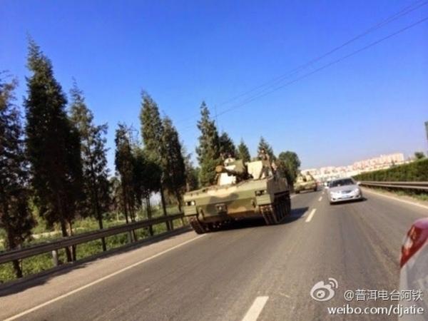 Передвижение бронетехники ВС Китая