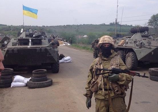 Украинские десантники вокруг Славянска (с) Александр Коц