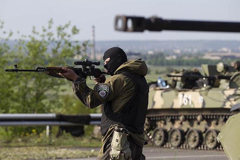 Военные ВС Украины вокруг Славянска