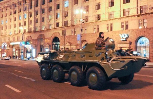 БТР-80 ВС Украины в Киеве на Майдане
