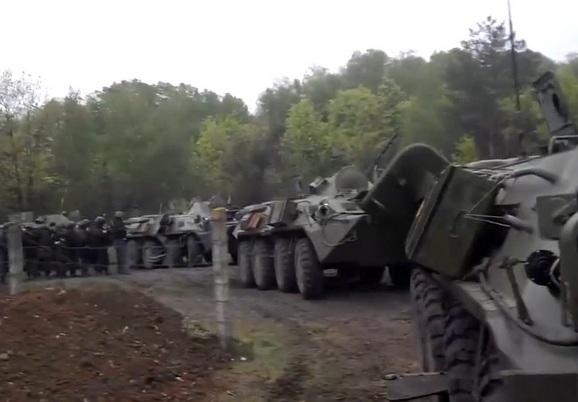 БТР-80 ВС Украины вокруг Славянска