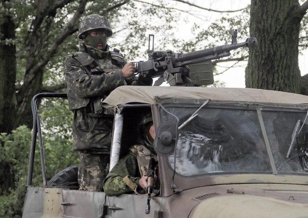 Украинские военные под Славянском 2.06.2014 (с) AP Photo/Efrem Lukatsky