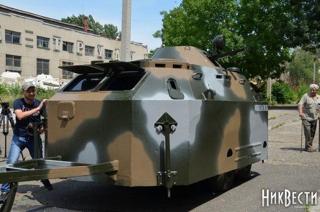 передвижной блок-пост, созданный на Николаевском бронетанковом заводе