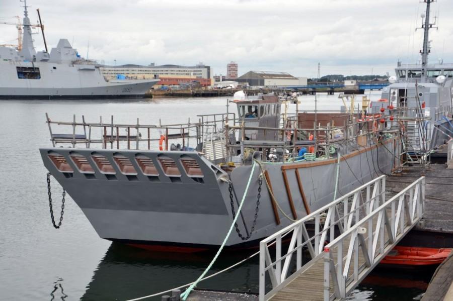 Головной построенный для ВМФ России на верфи STX Lorient в Лориане десантный катер типа СТМ NG (c) Vincent Groizeleau / www.meretmarine.com