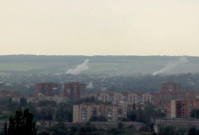 обстрел чатсного сектора в Славянске
