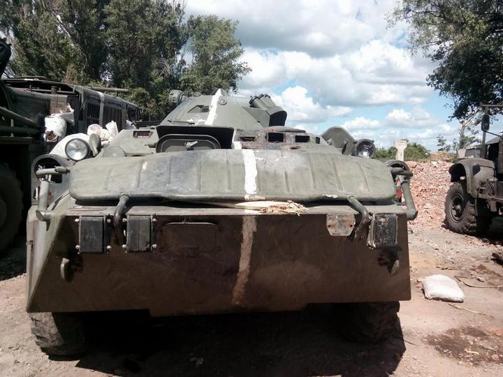 Подбитый БТР-80 ВС Украины