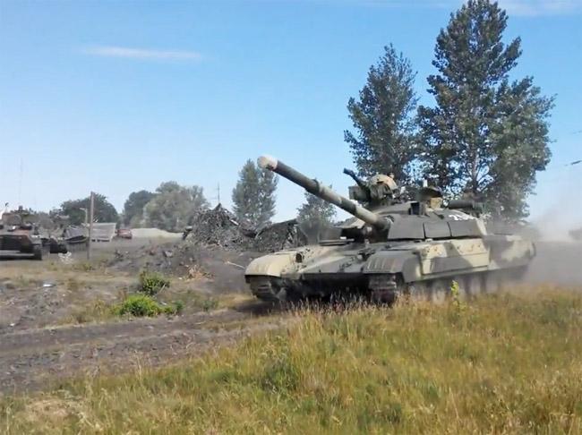 Т-64БМ Булат в районе населеного пункта Счастье