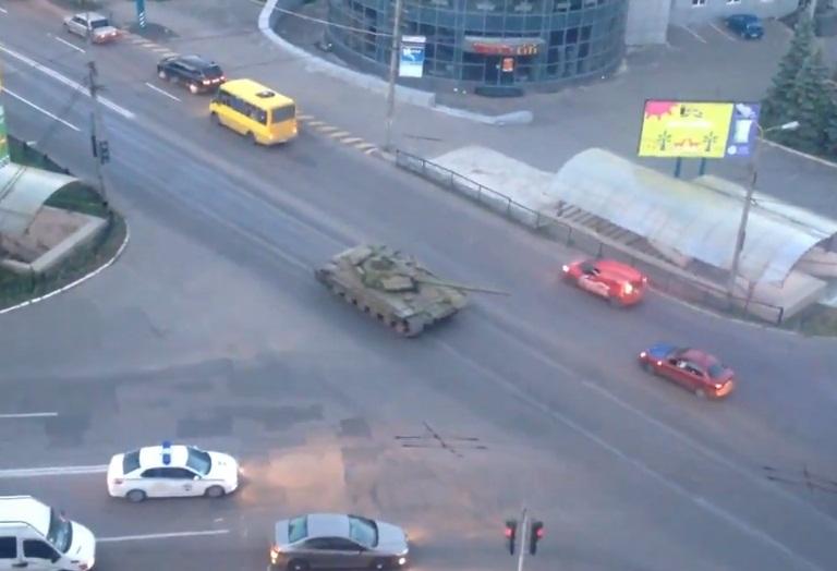 Т-64БВ ополчения