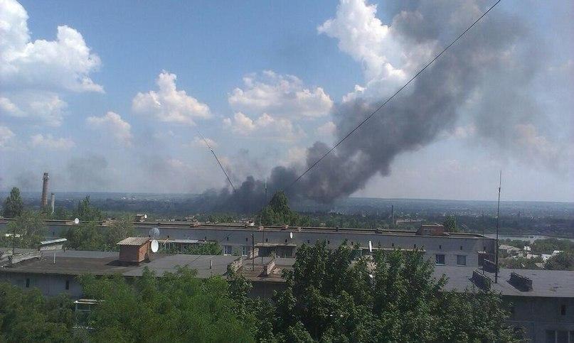 Славянск Со стороны центра города, 8 июня 2014 время 13.00