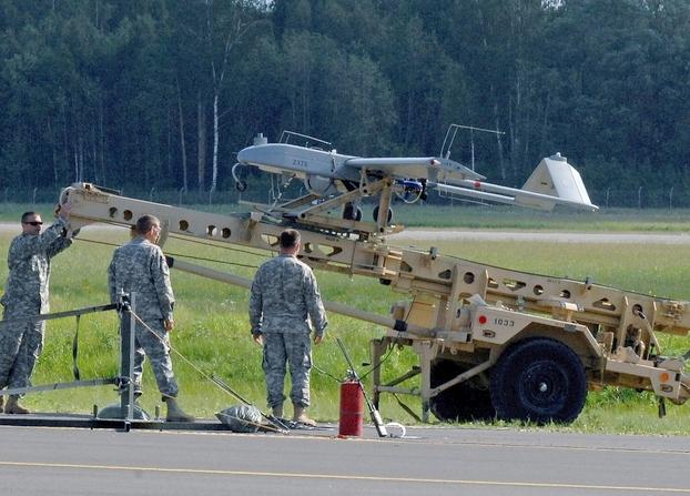 БПЛА RQ-7B Shadow принадлежащие Национальной гвардии США