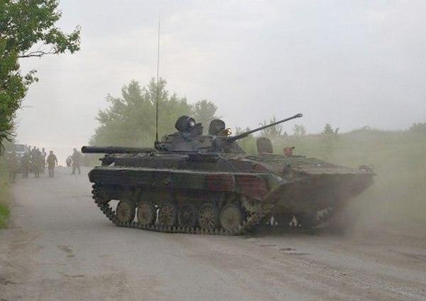 БМП ВС УКраины ранее захваченной ополченцами