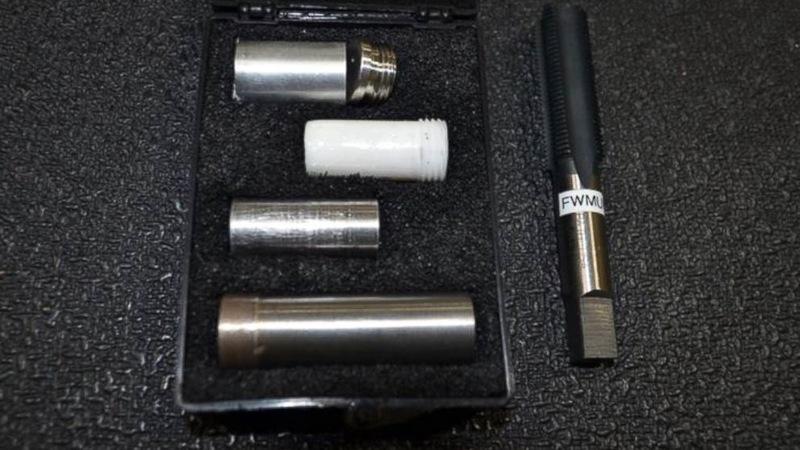 фото единственного набора ключей для установки ядерных БЧ