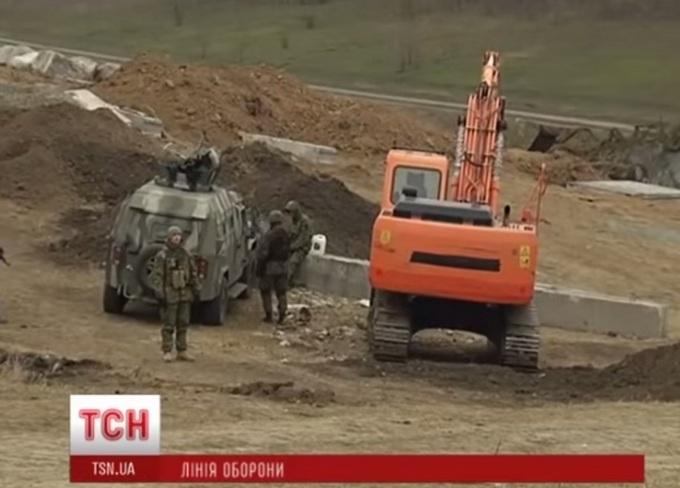 укрепрайоны вблизи Мариуполя