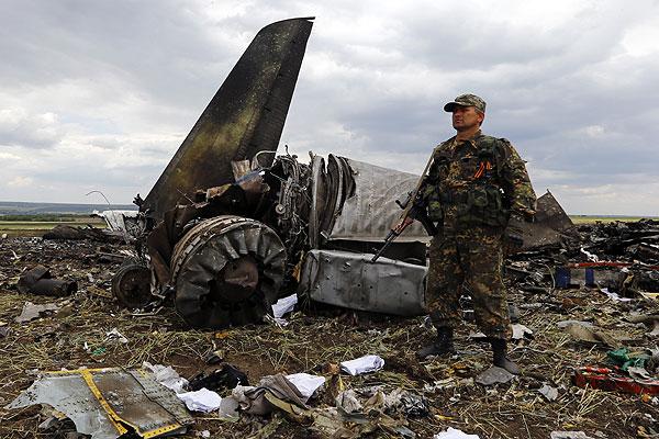 место падения Ил-76 ВС Украины