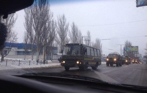 военная колона в Макеевке