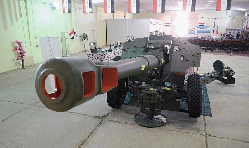 Одна из переданных Болгарией Ираку в порядке помощи 152-мм буксируемых гаубиц Д-20 (с) министерство обороны Ирака