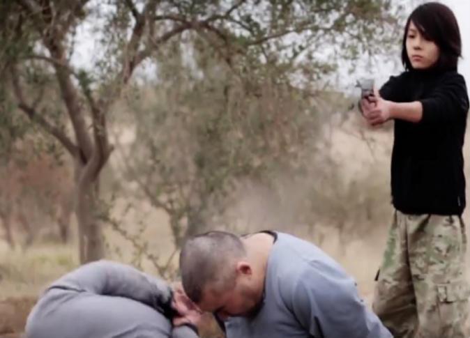 кадр ролика с казнью