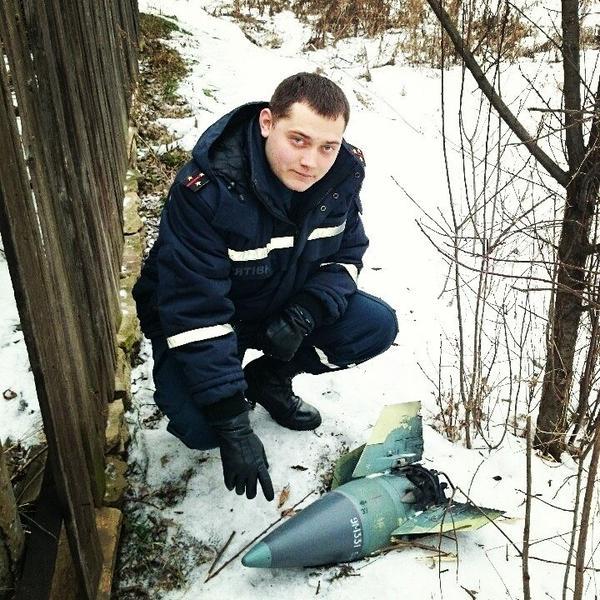 в поселке Нижняя Крынка (Донецкая область), спасатели обезвредили ЗУР от ЗРК Тор