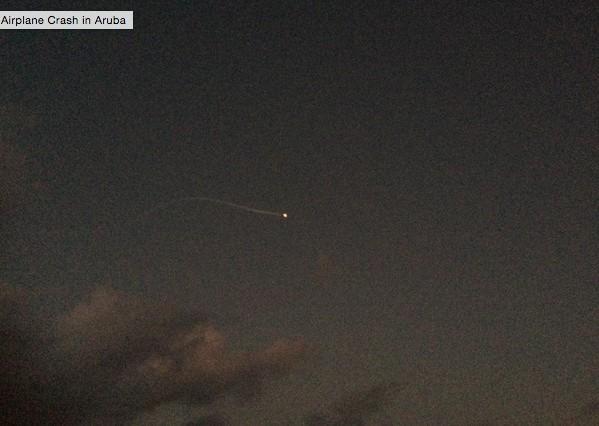 момент падения самолета